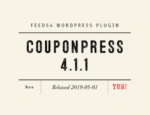 CouponPress Plugin 4.1.1 Released
